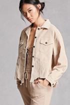 Forever21 Distressed Corduroy Jacket