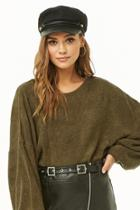 Forever21 French Terry Balloon-sleeve Top