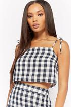 Forever21 Gingham Plaid Crop Cami