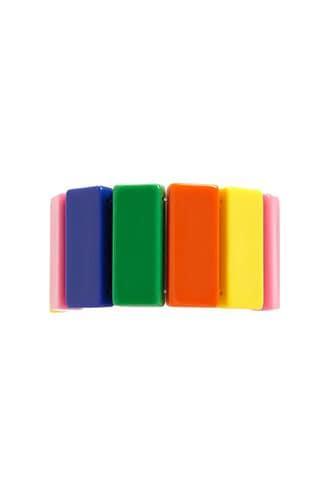 Forever21 Multicolor Colorblock Stretch Bracelet