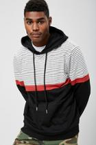 Forever21 Striped Colorblock Hoodie