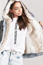 Forever21 Faux Fur Denim Jacket