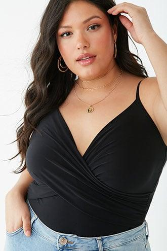 Forever21 Plus Size Ruched Cami Bodysuit