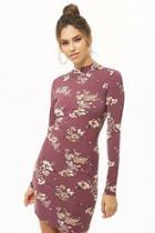 Forever21 Floral Mock Neck Mini Dress