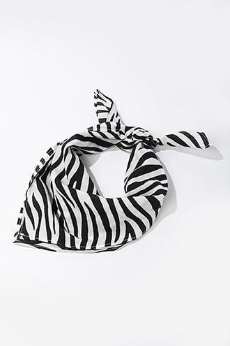 Forever21 Zebra Print Scarf