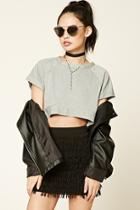 Forever21 Layered Tassel Mini Skirt