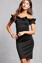 Forever21 Ruffle Bodycon Dress