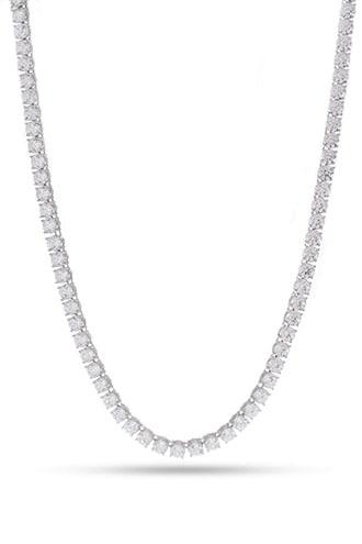 Forever21 King Ice White Gold Cz Necklace