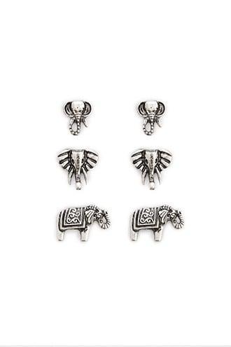 Forever21 Elephant Stud Earrings Set
