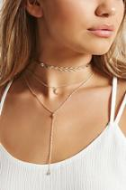 Forever21 Layered Moon Charm Necklace Set