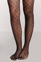 Forever21 Heart Fishnet Tights