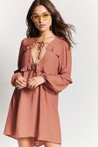 Forever21 Ruffled Chiffon Dress