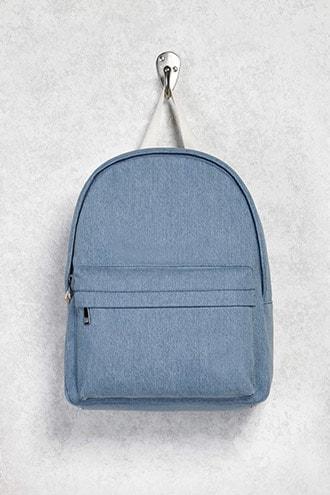 Forever21 Contrast Denim Backpack