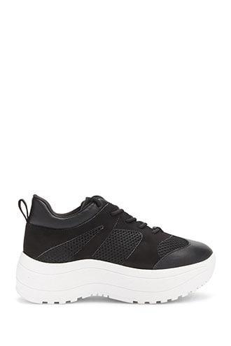 Forever21 Mesh-panel Low-top Sneakers