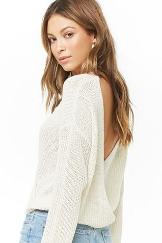 Forever21 Plunging Surplice Sweater
