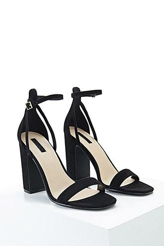 Forever21 Faux Suede Strappy Heels