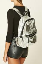 Forever21 Metallic Faux Leather Backpack