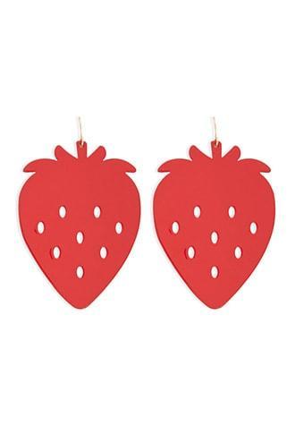 Forever21 Metal Strawberry Drop Earrings