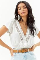 Forever21 Crochet-trim Crop Top