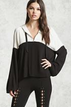 Forever21 Colorblock Hooded Top
