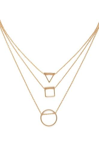 Forever21 Geo Pendant Necklace Set