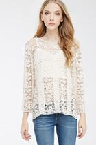 Forever21 Floral Crochet Top