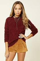 Forever21 Women's  Knit Raglan Sweater