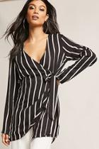 Forever21 Stripe Wrap-front Tunic