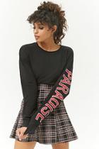 Forever21 Plaid Mini Skater Skirt