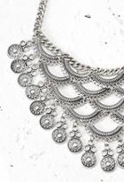 Forever21 Layered Coin Statement Necklace