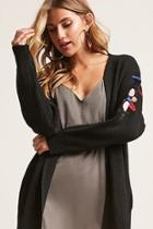 Forever21 Floral Embroidered Knit Cardigan