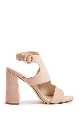 Forever21 Faux Suede Cutout High Heels