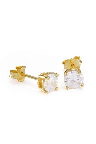 Forever21 King Ice Gold Cz Studs