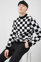 Forever21 Knit Checkered Sweater