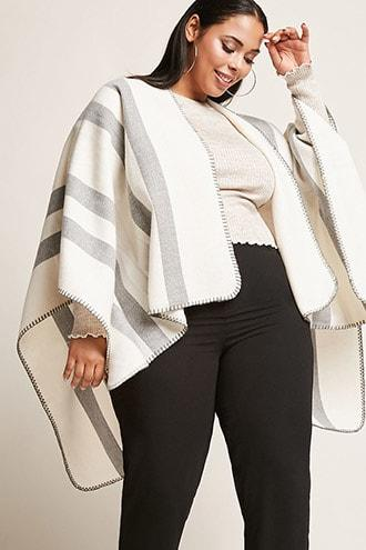 Forever21 Plus Size Striped Shawl