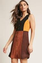 Forever21 Faux Suede Colorblock Dress