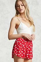 Forever21 Floral Dolphin Shorts