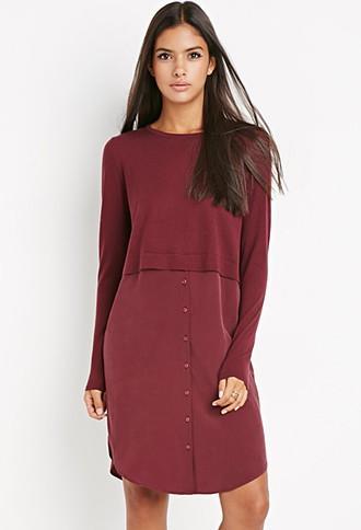 Love21 Combo Sweater Dress