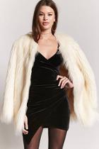 Forever21 Velvet Mock Wrap Dress