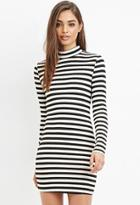 Forever21 Mock Neck Striped Dress
