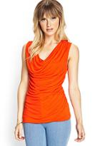 Forever21 Ruched Sleeveless Top
