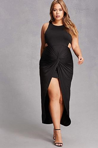Forever21 Plus Size Split Maxi Dress