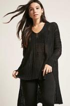 Forever21 Oversized Open-knit Top