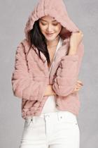 Forever21 Hooded Faux Fur Jacket