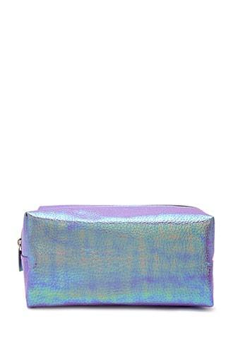 Forever21 Iridescent Pebbled Makeup Bag