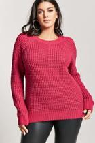 Forever21 Plus Size Raglan Waffle-knit Sweater