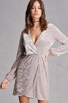 Forever21 Crushed Velvet Surplice Dress