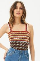 Forever21 Sweater-knit Striped Top