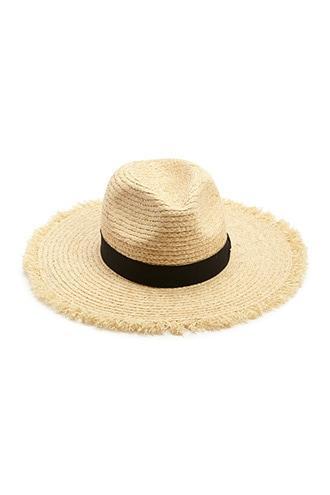 Forever21 Fringe-trim Panama Straw Hat