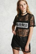 Forever21 Lace Dreamer Graphic Tunic